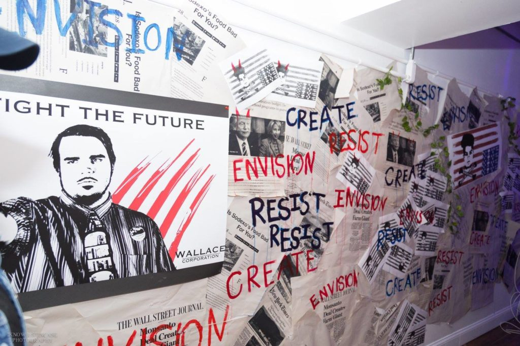 studio walls decorated by youth artists for FW Liberation