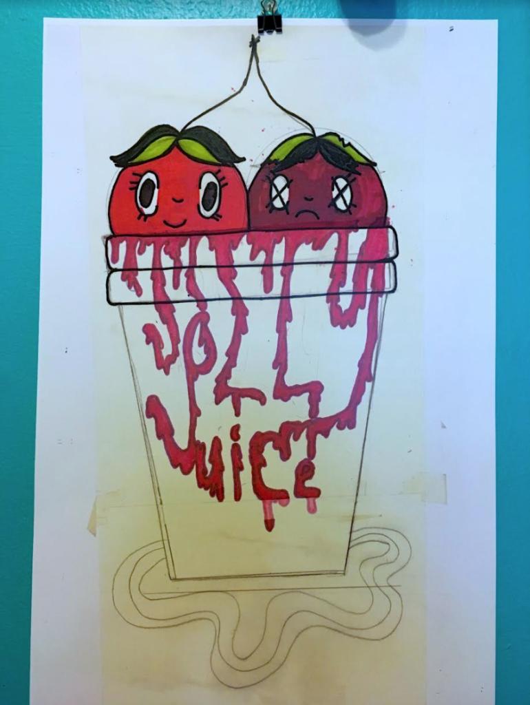 jolly juice logo design.
